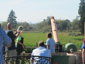 One of the pumpkin cannons. The range of this cannon was very impressive!