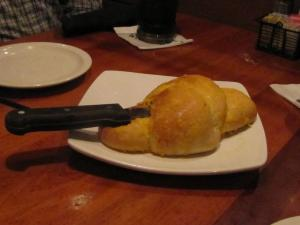 Delicious hot bread began our dining experience!