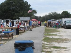 One of the smaller Flea Markets at Webster, FL