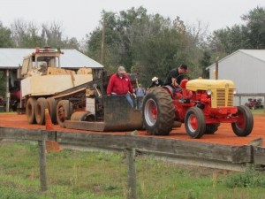 Tractor ready to start the pull