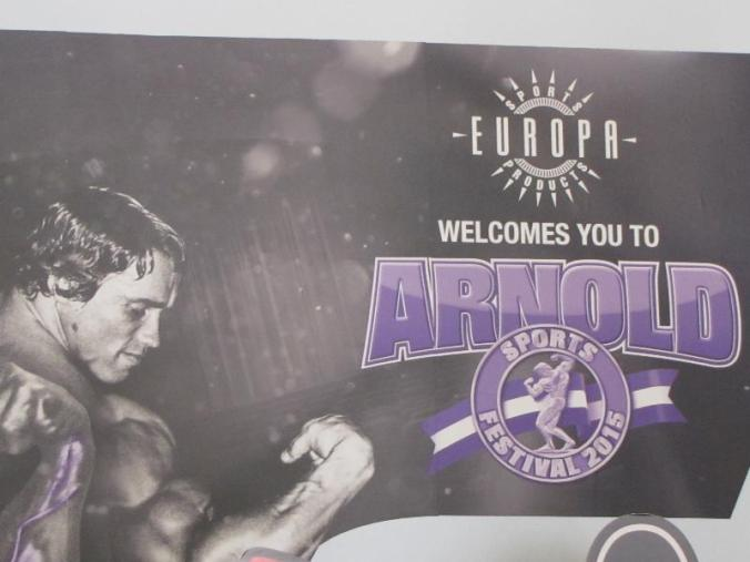 One company's banner with a vintage picture of Arnold