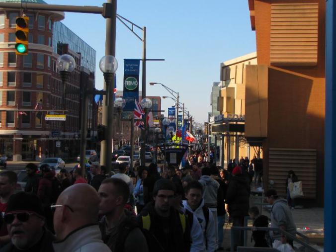 The streets and sidewalks were packed!