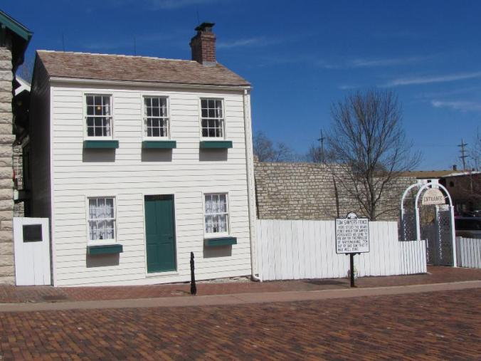 Clemen's (Tom Sawyer's) home and that famous white-washed fence