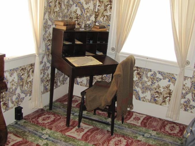 Lincoln's desk in his upstairs bedroom. Legend says he wrote his debates with Douglas at this desk.