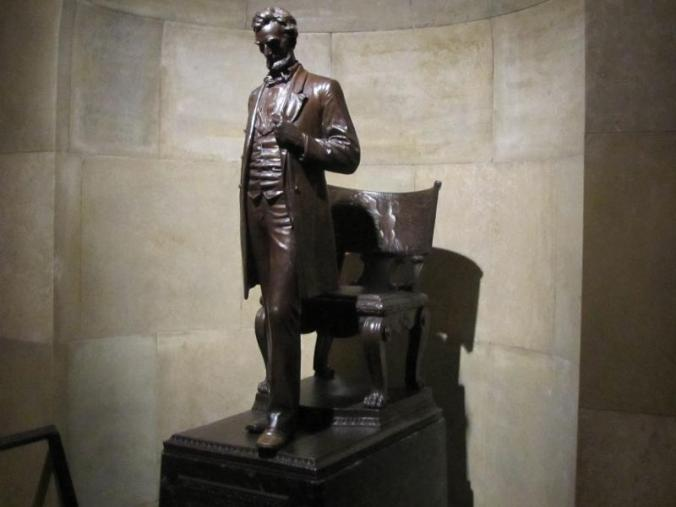 One of several depictions of Lincoln in varioius places in the walkway.