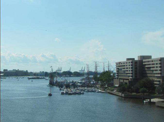 "A couple of ""Tall Ships"" in the Norfolk Harbor"