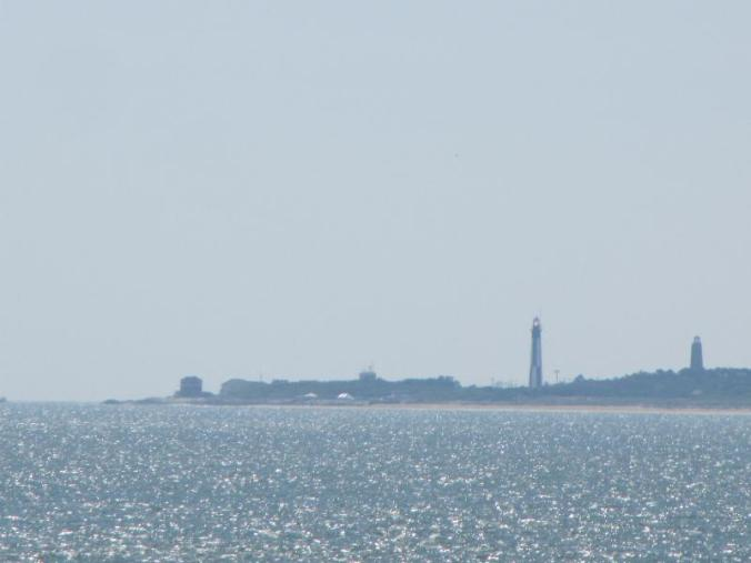Lighthouse at Fort Story as seen from the Chesapeake Bay Bridge Tunnel