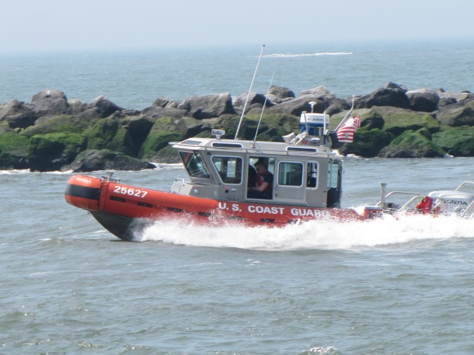 A neat Coast Guard vessel heading out