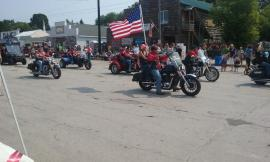 AM VET bikers in the parade