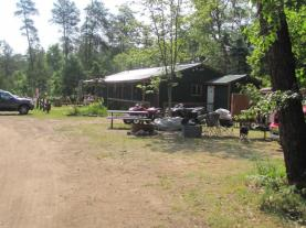 The lodge building