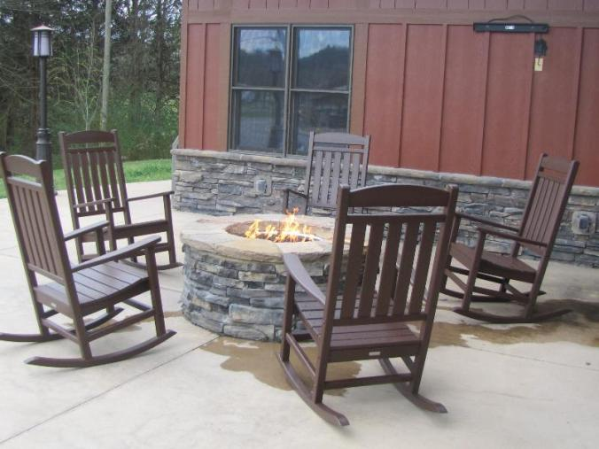 Comfy firepit waiting for you!
