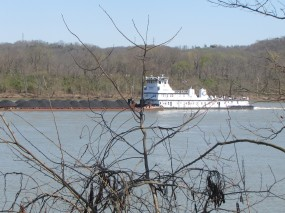 It was fun watching the coal barges on the river