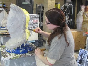 Rachael removing the molds