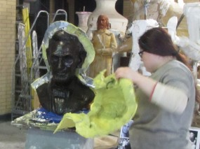 "Abe revealed! The molds will be used for the ""lost wax"" process"