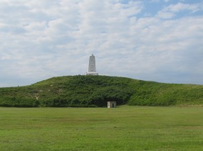 Monument on the hill where the first flight occurred