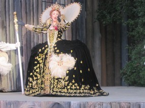 "Lavish costume for ""Queen Elizabeth"""