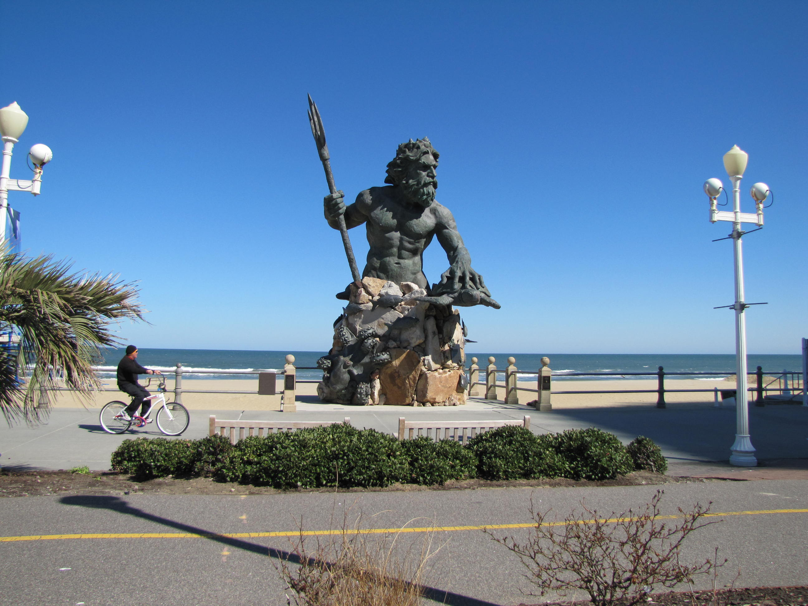 The colossal statue of King Neptune on the Virginia Beach