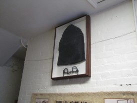 Hood and shackles for the 1894 hanging