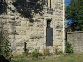 Back of the jail where the gallows were for the last hanging in 1894