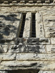Thick walls and narrow windows of the jail