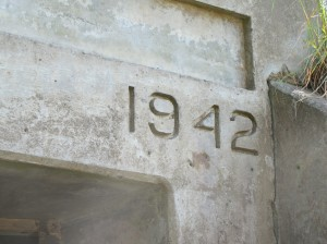 Date on the main bunker entrance