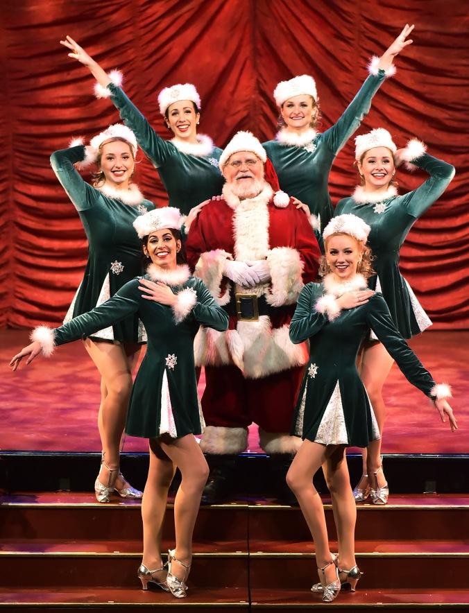 Santa and dancers